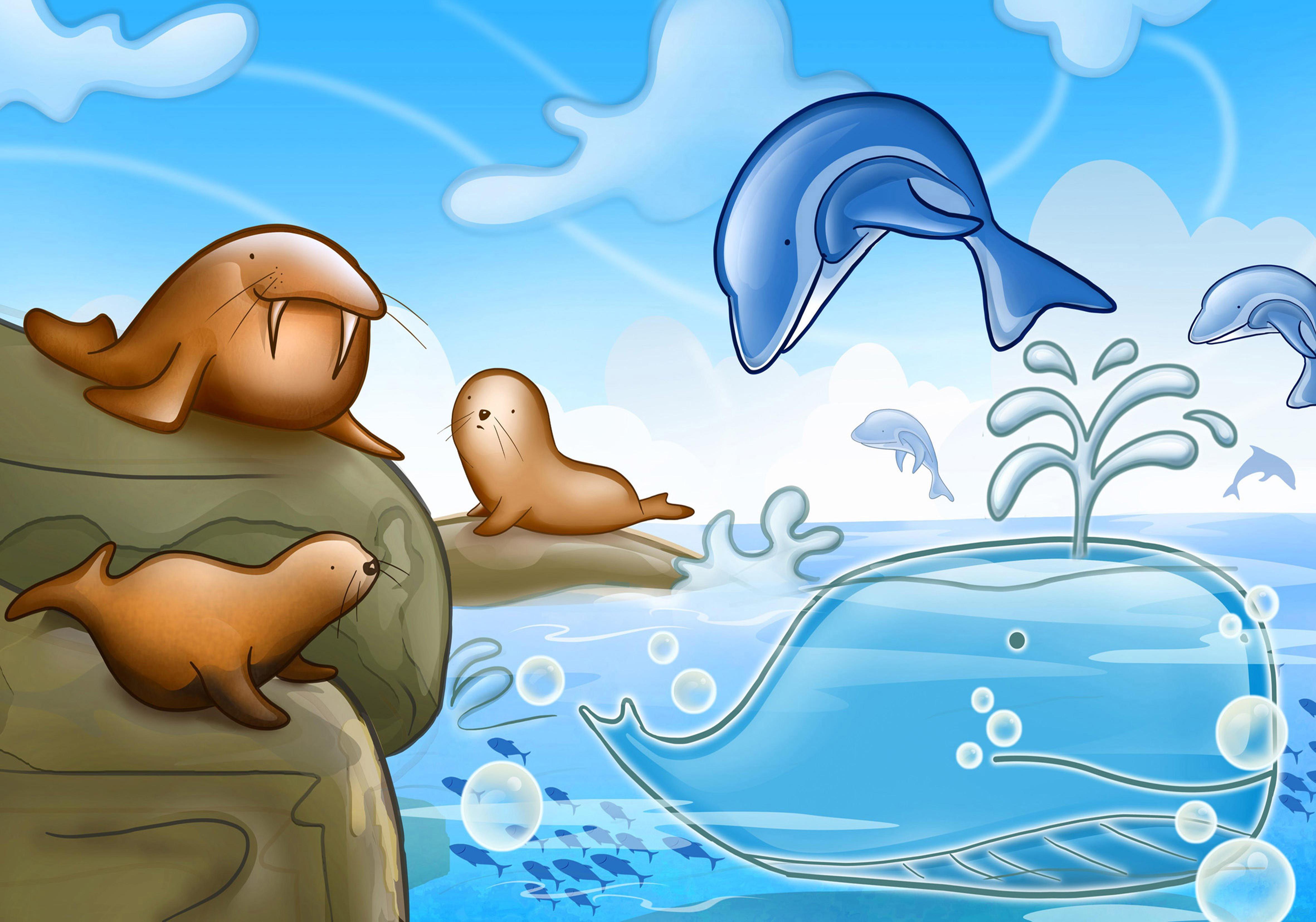 толку картинки мультяшек в воде потому что еще