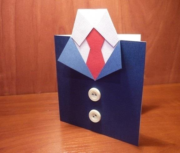 Открытка на 23 февраля старшая группа рубашка с галстуком